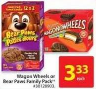 Wagon Wheels or Bear Paws Family Pack