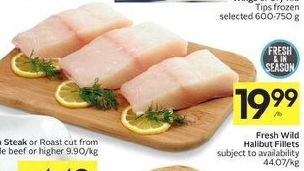 Fresh Wild Halibut Fillets