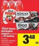 IOGO Nano Drinkable Yogurt - 6x93 Ml Or Proteine - 4x125 G