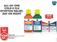 Dayquil - Nyquil Complete Cold & Flu Liquid or Liquicaps