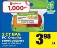 PC Organics Sweet Peppers - 2ct Bag