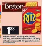 Christie Crackers - 100-454 G - Dare Crackers - 100-250 G - Leclerc Celebration Cookies - 100-240 G Or Keebler Crackers - 269-388 G