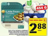 The Little Potato Company Fresh Creamer Potato Kits Or Whole White Mushrooms