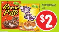 General Mills Reese Puffs 326 g or Golden Grahams 331 g