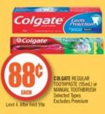 Colgate Regular Toothpaste or Manual Toothbrush (95ml)