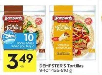Dempster's Tortillas 9-10in 426-610 g - 10 Air Miles Bonus Miles!