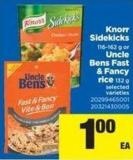 Knorr Sidekicks 116-162 G Or Uncle Bens Fast & Fancy Rice 132 G