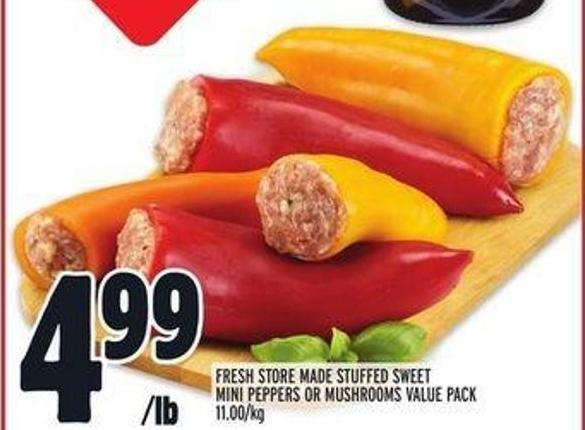 Fresh Store Made Stuffed Sweet Mini Peppers or Mushrooms Value Pack