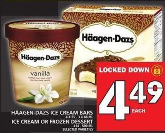 Häagen-dazs Ice Cream Bars Ice Cream Or Frozen Dessert