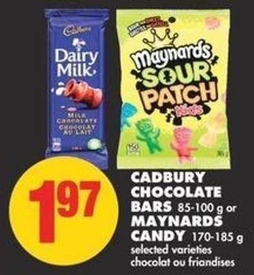 Cadbury Chocolate Bars 85-100 g or Maynards Candy - 170-185 g