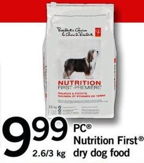 PC Nutrition First Dry Dog Food - 2.6/3 Kg