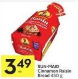 Sun-maid Cinnamon Raisin Bread