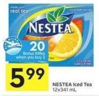 Nestea Iced Tea 12x341 mL - 20 Air Miles Bonus Miles
