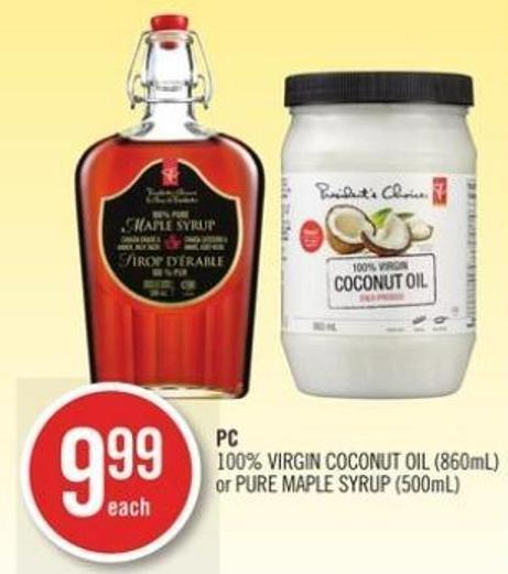 PC  PC 100% Virgin Coconut Oil (860ml) or Pure Maple Syrup (500ml)