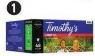 Keurig K-cup Pods - Timothy's Breakfast Blend 48-count