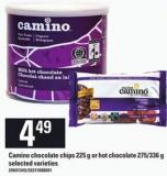 Camino Chocolate Chips - 225 G Or Hot Chocolate - 275/336 G