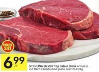 Sterling Silver Top Sirloin Steak