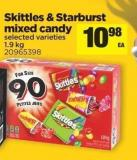 Skittles & Starburst Mixed Candy - 1.9 Kg