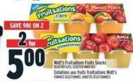 Mott's Fruitsations Fruits Snacks