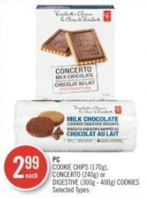 PC Cookie Chips (170g) - Concerto (240g) or Digestive (300g - 400g) Cookies