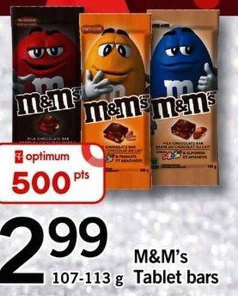 M&m's Tablet Bars - 107-113 G
