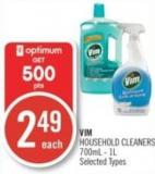 Vim Household Cleaners 700ml - 1l