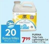 Purina Tidy Cats Lightweight Cat Litter 2.72 Kg  20 Air Miles Bonus Miles