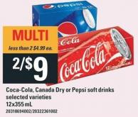 Coca-cola - Canada Dry Or Pepsi Soft Drinks