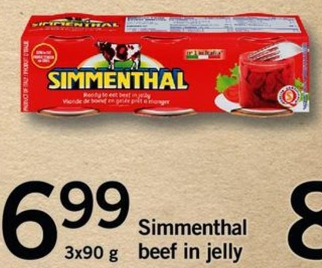 Simmenthal Beef In Jelly - 3 X 90g