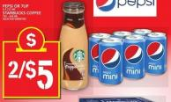 Pepsi Or 7up Or Starbucks Coffee