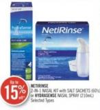 Netirinse 2-in-1 Nasal Kit With Salt Sachets (60's) or Hydrasense Nasal Spray (210ml)