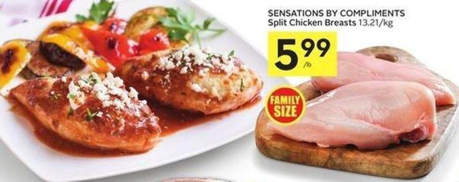 Sensations By Compliments Split Chicken Breasts