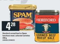 Hereford Corned Beef Or Spam Luncheon Meat - 340 G