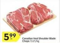Canadian Veal Shoulder Blade Chops