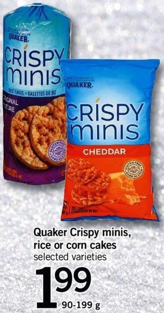 Quaker Crispy Minis - Rice Or Corn Cakes - 90-199 G