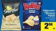 Ruffles Potato Chips - 190/200 G Or Smartfood Popcorn - 150-200 G