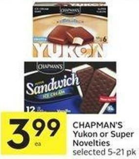 Chapman's Yukon or Super Novelties Selected 5-21 Pk