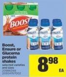 Boost - Ensure Or Glucerna Protein Shakes