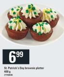St. Patrick's Day Brownie Platter