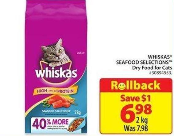 Whiskas Seafood Selections Dry Food For Cats
