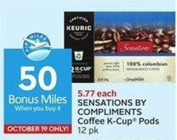 Sensations By Compliments Coffee K-cup Pods 12 Pk - 50 Air Miles Bonus Miles