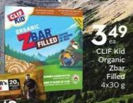 Clif Kid Organic Zbar Filled