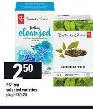 PC Tea - Pkg of 20-24