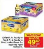 Enfamil Ready To Feed A+2 Ready To Feed or Gentlease A + Ready To Feed