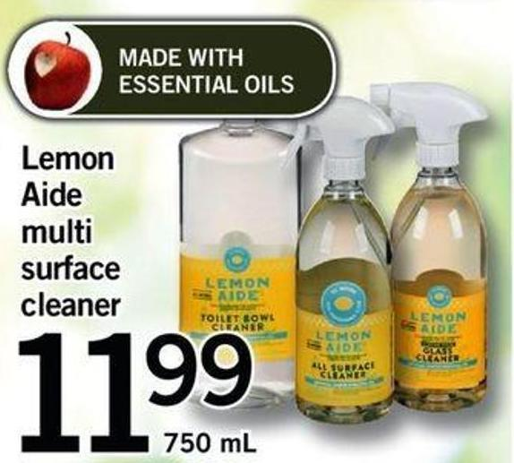 Lemon Aide Multi Surface Cleaner - 750 Ml