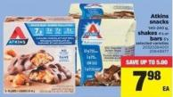 Atkins Snacks - 140-240 G - Shakes - 4's Or Bars - 5's