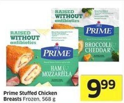 Prime Stuffed Chicken Breasts Frozen - 568 g