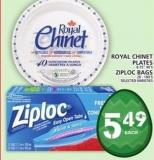 Royal Chinet Plates Or Ziploc Bags