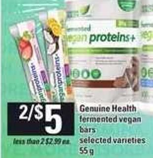 Genuine Health Fermented Vegan Bars - 55 g