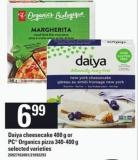 Daiya Cheesecake - 400 G Or PC Organics Pizza .340-400 G